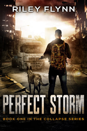 Post-Apocalyptic book cover design, ebook kindle amazon,  Riley Flynn, Perfect Storm