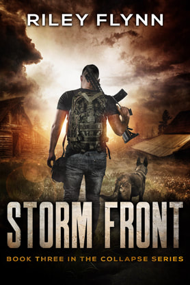 Post-Apocalyptic book cover design, ebook kindle amazon,  Riley Flynn, Storm front