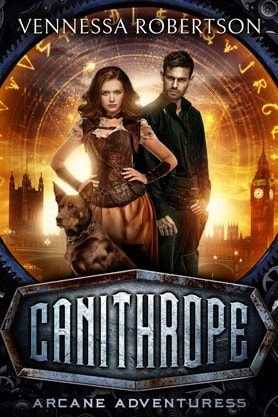 Steampunk book cover design, ebook kindle amazon, Vennessa Robertson, Canithrope