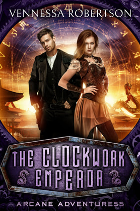 Steampunk book cover design, ebook kindle amazon, Vennessa Robertson, Clockwork