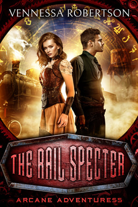Steampunk book cover design, ebook kindle amazon, Vennessa Robertson, Specter