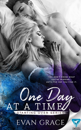 Contemporary Romance book cover design, ebook kindle amazon, Evan Grace, One Day
