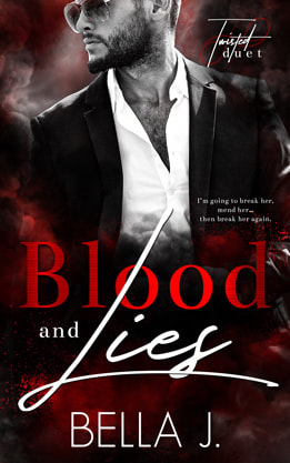PictureContemporary Romance book cover design, ebook, kindle, Amazon, Bella J Blood and Lies