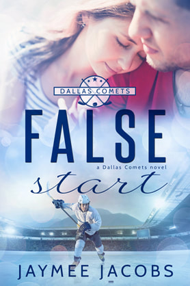 Contemporary (Sports/ Hockey) Romance book cover design, ebook kindle amazon, Jaymee Jacobs, False