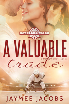 Contemporary (Sports/ Hockey) Romance book cover design, ebook kindle amazon, Jaymee Jacobs, A Valuable