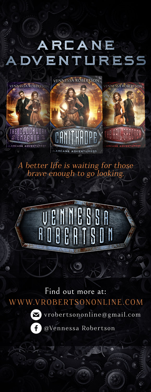 Roll up and table banners. vennessa robertson, arcane adventuress