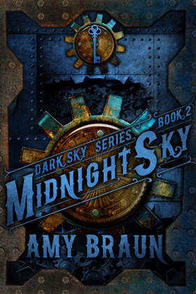 Steampunk book cover design, ebook kindle amazon, Amy Braun, Midnight