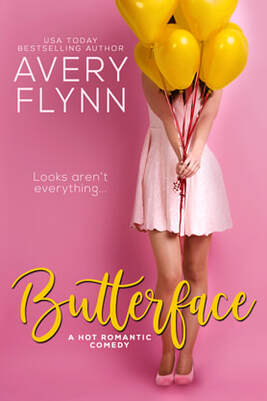 Chick Lit Romance book cover design, ebook kindle amazon, Avery Flynn, Butterface