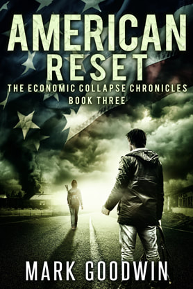 Post-Apocalyptic book cover design, ebook kindle amazon, Mark Goodwin, Reset