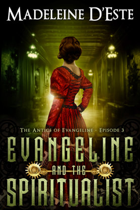 Steampunk book cover design, ebook kindle amazon, Madeleine D'Este , Spiritualist