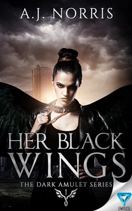 Paranormal Romance/Urban Fantasy (Angels) book cover design , ebook kindle amazon, A.J.Norris, Wings