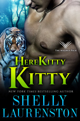 Paranormal Romance (Shape shifters) book cover design, ebook kindle amazon, Shelly Laurenston, Kitty