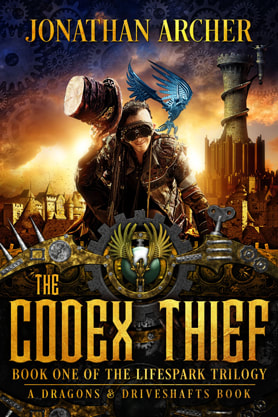 Steampunk book cover design, ebook kindle amazon, Jonathan Archer, Thief
