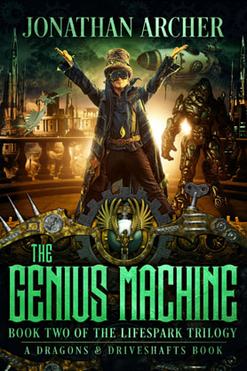 Steampunk book cover design, ebook kindle amazon, Jonathan Archer, Machine