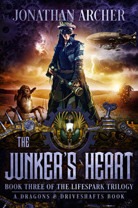 Steampunk book cover design, ebook kindle amazon, Jonathan Archer, Heart