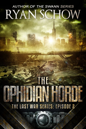 Post-Apocalyptic book cover design, ebook kindle amazon, Ryan Schow, Horde