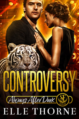Paranormal Romance (Shape shifters) book cover design, ebook kindle amazon, Elle Thorne, Controversy