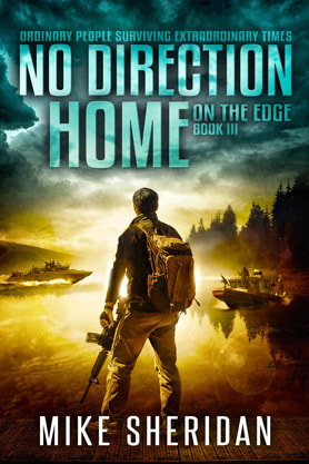 Post-Apocalyptic book cover design, ebook kindle amazon, Mike Sheridan, Home