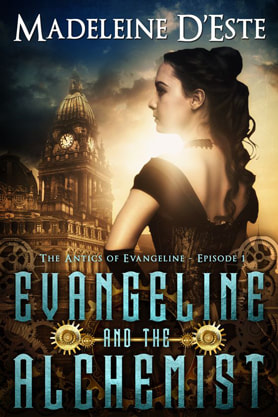 Steampunk book cover design, ebook kindle amazon, Madeleine D'Este , Alchemist