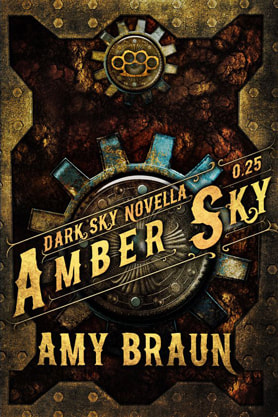 Steampunk book cover design, ebook kindle amazon, Amy Braun, Amber