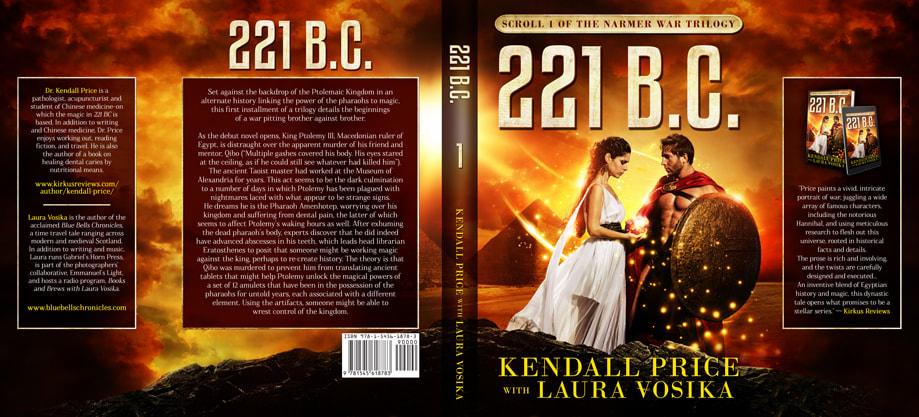 Dust Jacket cover design for Hardcover : 221 B.C.  by Kendall Price with Laura Vosika