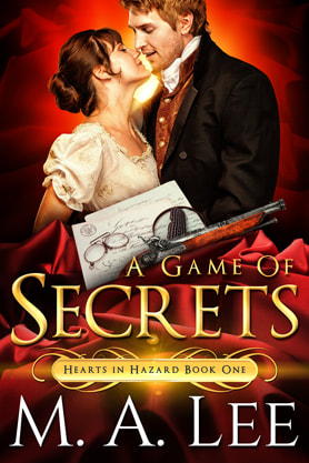 Historical Romance book cover design,  ebook kindle amazon, M.A.Lee, Secrets
