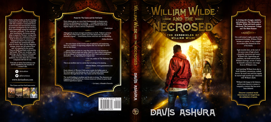 Dust Jacket cover design for Hardcover : William Wilde And The Necrosed by Davis Ashura