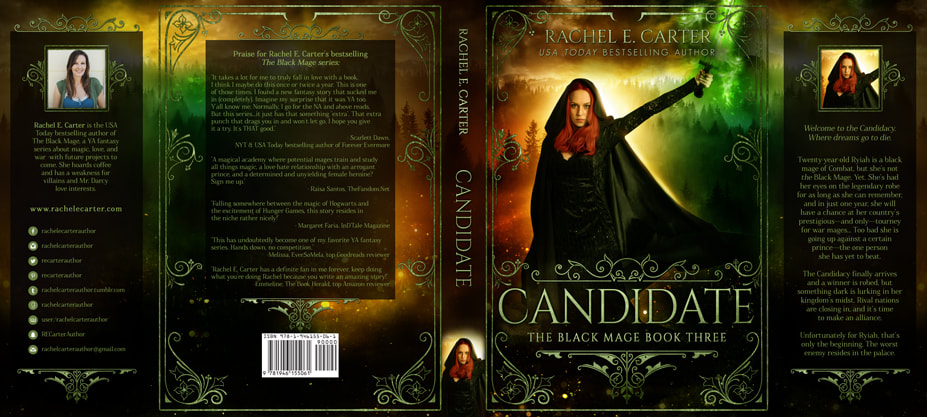 Dust Jacket cover design for Hardcover : Candidate by Rachel E Carter