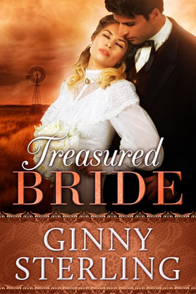 Historical Romance book cover design, ebook kindle amazon, Ginny Sterling, Treasured Bride