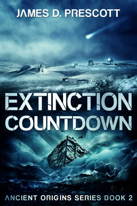 Science Fiction Fantasy book cover design, ebook kindle amazon, James D Prescott, Countdown