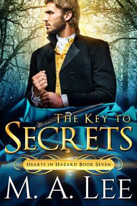 Historical romance book cover design, ebook kindle amazon, M.A.Lee, The Key to Secrets