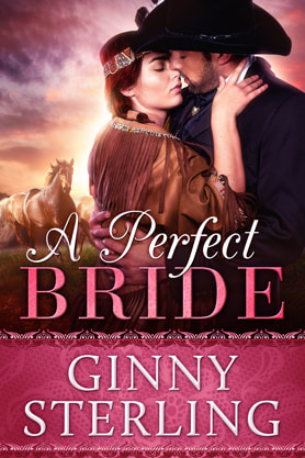Historical Romance book cover design, ebook kindle amazon, Ginny Sterling, Perfect Bride