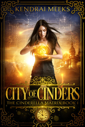 Science Fiction / Fantasy (YA) / Dystopian book cover design, ebook kindle amazon, Kendrai Meeks, City of Cinders