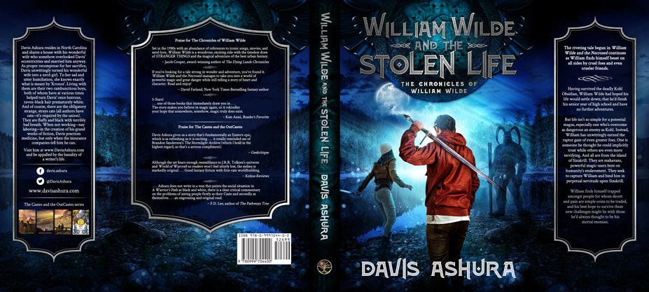 Dust Jacket cover design for Hardcover : William Wilde And The Stolen Life by Davis Ashura
