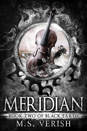 Epic fantasy book cover design, ebook kindle amazon, M S Verish, Meridian