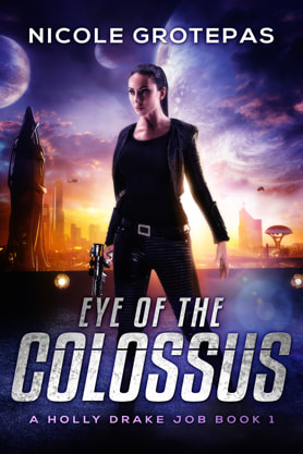 Science Fiction Fantasy book cover design, ebook kindle amazon, Nicole Grotepas,Colossus