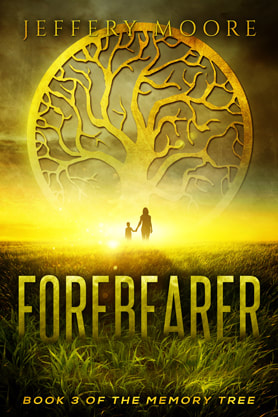 Post-Apocalyptic book cover design, ebook kindle amazon, Jeffery Moore, Forebearer