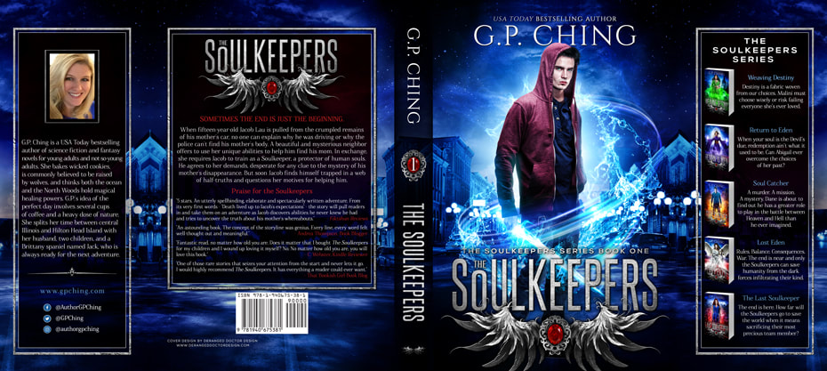 Dust Jacket cover design for Hardcover : The Soulkeepers by G.P. Ching