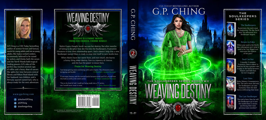 Dust Jacket cover design for Hardcover : Weaving Destiny by G.P. Ching