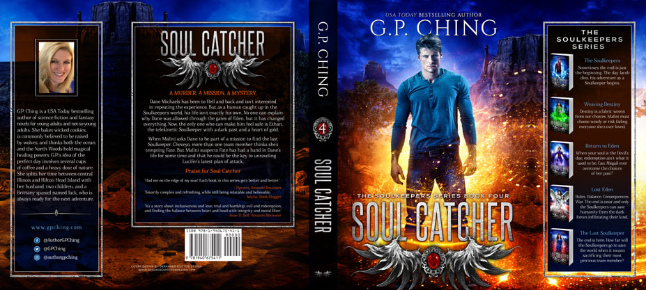 Dust Jacket cover design for Hardcover : Soul Catcher by G.P. Ching