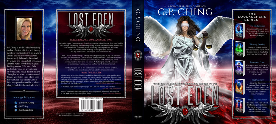 Dust Jacket cover design for Hardcover : Lost Eden by G.P. Ching