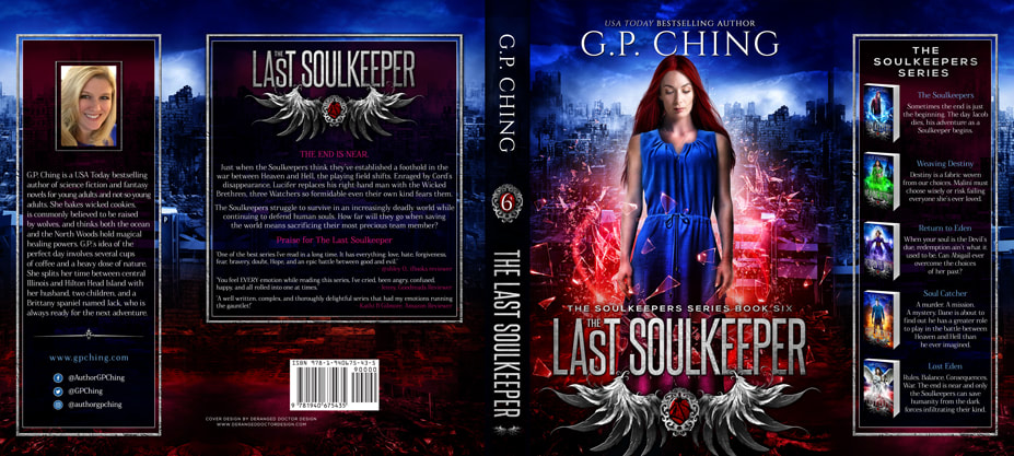 Dust Jacket cover design for Hardcover : The Last Soulkeeper by G.P. Ching