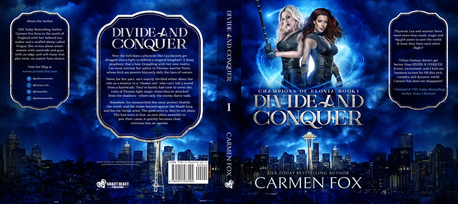 Dust Jacket cover design for Hardcover : Divide And Conquer by Carmen Fox