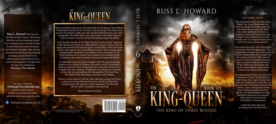 Dust Jacket cover design for Hardcover : The King-Queen by Russ L. Howard