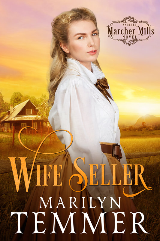 Historical Romance book cover design, ebook kindle amazon, Marilyn Temmer, Wife Seller