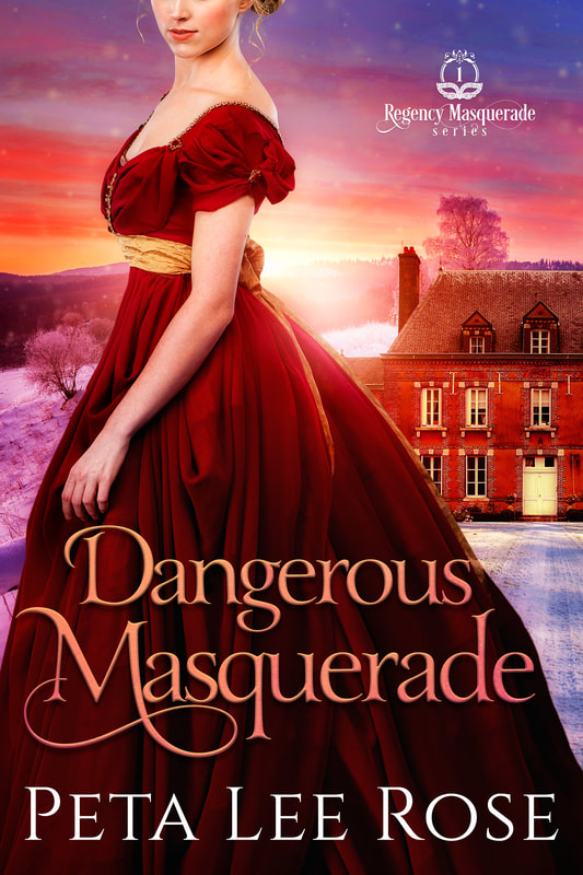 Historical romance book cover design, ebook kindle amazon, Peta Lee Rose, Dangerous Masquerade