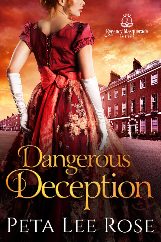 Historical romance book cover design, ebook kindle amazon, Peta Lee Rose, Dangerous Deception