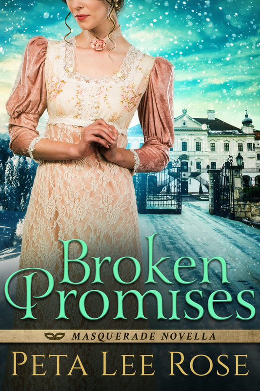 Historical romance book cover design, ebook kindle amazon, Peta Lee Rose, Broken Promises