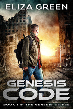 Post-Apocalyptic book cover design, ebook, kindle, amazon, Code, Eliza Green