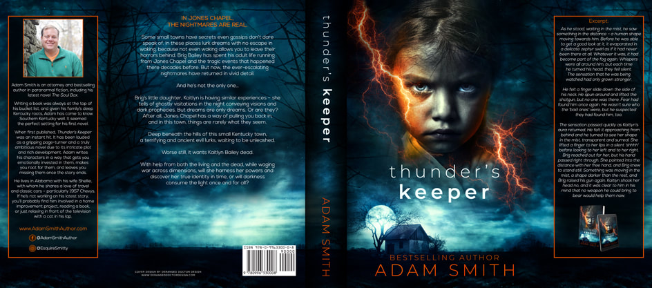 Dust Jacket cover design for Hardcover : Thunder's Keeper by Adrian Smith